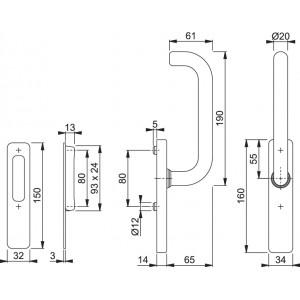 Maniglione Corto Per Alzante Scorrevole - Paris - HS-M576K/419/423